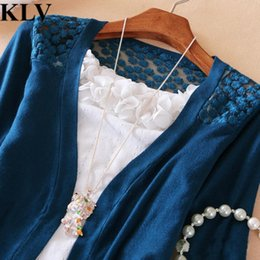 Maillot De Crochet En Dentelle Femmes Pas Cher-Vente en gros - Newly Stylish Fashion Solid Hot Women Hallow Out Sexy Sweet Lace Candy Crochet Knit Top Coat Cardigans Chemise Sweater Femme No21