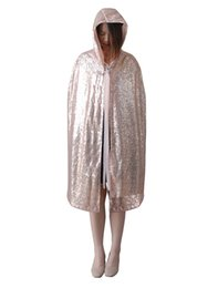 Cape De Mariée D'hiver À Bas Prix Pas Cher-Sequins Short Cloak With Hat Holloween Robes Cheap Velvet Hooded Cloaks Caps de mariage d'hiver Wicca Robe Warm Wrap