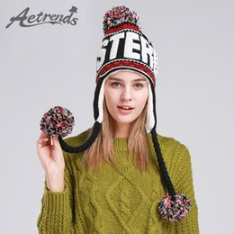 Winter Warm Beanies Canada - New Fashion Designer Beanies Winter Hat With Ears Warm Beanie Girl Hats With Top Ball Z -1355