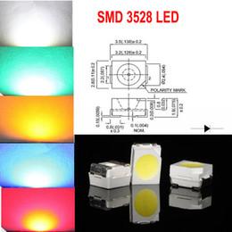 Vente en gros 1000pcs SMD 3528 (1210) Blanc Rouge Bleu Vert Jaune LED Lampe Diodes Ultra Lumineux SMD3528 1210 SMD LED Livraison gratuite
