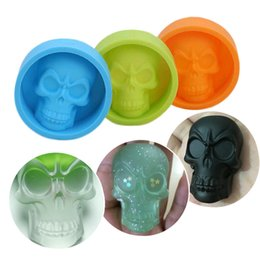 christmas pudding moulds UK - Mini Skull Silicone Mold For Cake Pudding Chocolate Ice Biscuit Non Stick Muffin Cup Moulds Bakeware Baking Tools