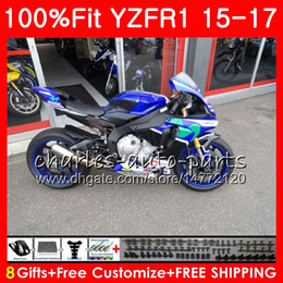 yamaha blue Australia - Injection Body For YAMAHA YZF blue black 1000 YZF-R1 15 17 YZF R1 2015 2016 2017 87NO31 YZF1000 YZF R 1 YZF-1000 YZFR1 15 16 17 Fairing kit