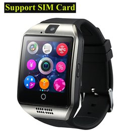Discount android smart watch nfc - 2016 NFC Smart watch Q18 1.54 HD inch Touch Screen Camera smartwatch support SIM TF Card for IOS and Android HTC phone V