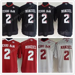 Mens Youth Womens Texas A M Aggies  2 Johnny Manziel Kids Black Red White  Stitched NCAA College Football Jerseys size S-3XL 766b02c81c