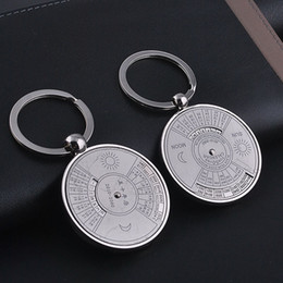 Chinese CeramiC glasses online shopping - Compass Keychain calendar key buckle Chinese English bead creative company