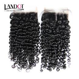 $enCountryForm.capitalKeyWord NZ - Brazilian Curly Virgin Human Hair Top Lace Closure Free Middle Part Peruvian Malaysian Indian Cambodian Mongolian Deep Kinky Curly Closures