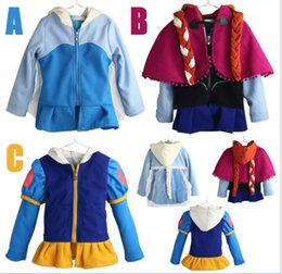 Girl Grey Jacket Coat Canada - 2018 Cartoon Frozen Autumn Winter Children Zipper Hooded Coat Girl Fashion Jackets Outwear With Braid Kids Clothing 110-150cm 5pcs lot