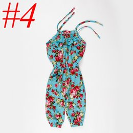 Girls floral jumpsuit suspender trousers online shopping - ins baby Cotton yellow Flower clothes Girls Floral Jumpsuit Suspender Trousers Pant colors choose free choose size years old