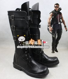 Discount costume ver - Wholesale-Marvel's The  Hawkeye new ver Cosplay Shoes Boots shoe boot #GS09 anime Halloween Christmas