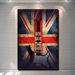$enCountryForm.capitalKeyWord Canada - Vintage Rock Guitar Pictures Painting Canvas Poster Painting Prints Hotel Bar Garage Living Room Wall Home Art Decor Poster