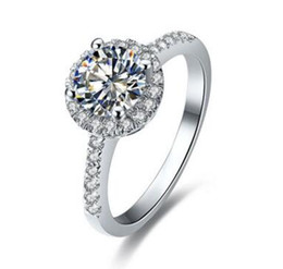 china diamond engagement ring UK - Lea Beautiful 1.5Ct Lab Diamond Platinum 14K White Gold Filled Luxury Engagement Ring