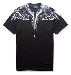 ss novo Marcelo Burlon T-Shirt Dos Homens De Milão Pena Asas T Shirt Das Mulheres Dos Homens Casal Desfile de Moda RODEO REVISTA T Camisas Goros camisetas venda por atacado