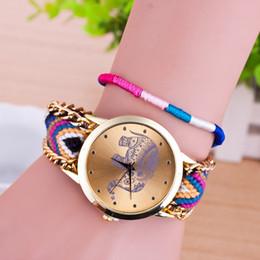 Cheap Braids Canada - Bracelet Watch Braided Watches for women cheap wristwatch Ladies lady dress watch Animal Elephant Wristwatches fashion Accessories gifts