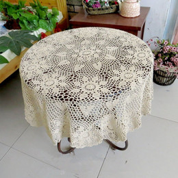 Lovely Crochet Pattern Round Table Topper, 100% Handmade Table Cover,  Crochet Tablecloth For Home Decor ,Round Crocheted Tablecloth