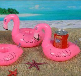 $enCountryForm.capitalKeyWord Canada - Flamingo PVC Inflatable Drink Bottle Holder Lovely Pink Floating Bath Cola cup Holder Kids Toys Christmas Gift