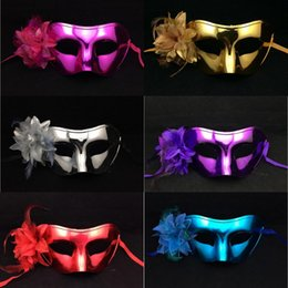 $enCountryForm.capitalKeyWord NZ - 2016 Plating Side Flower Masks for Women 6 Colors Party Halloween Masks for Women Bar Club Valentine's Day Masquerade Masks for Women