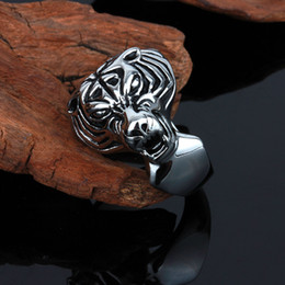 $enCountryForm.capitalKeyWord Canada - Size #8-12 Punk Tiger Head Rings Jewelry Stainless Steel Casting Band Ring For Men Free Shipping