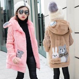Imitation Clothing Canada - Girl's Winter imitation fur coat 2017 Girls Faux fur coat children baby clothes Kid Thick Plus velvet coat