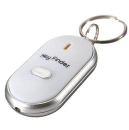 10pcs / lot Alarme de détecteur de détecteur de sifflet Finder LED avec 2 piles AG3 en toute sécurité en Solde