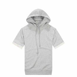 Discount Grey Short Sleeve Hoodie | 2017 Grey Short Sleeve Hoodie ...