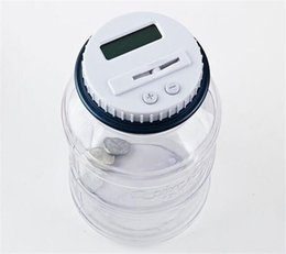 Discount electronic money bank - 10pcs New Creative Digital Money Box Electronic USD Coin Counter Piggy Bank Money Saving Jar Gift With LCD Screen Y087