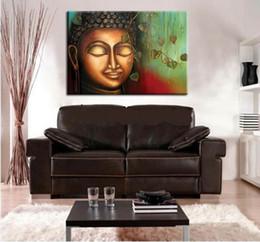 $enCountryForm.capitalKeyWord Australia - Framed 100% Hand Painted Asian Buddhist Art Oil Painting Buddha face,Home Wall Decor On High Quality Thick Canvas Multiple Size