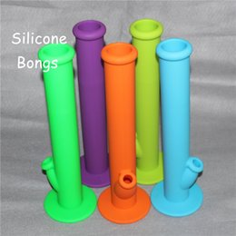 """$enCountryForm.capitalKeyWord NZ - 2016 New Silicone Water Pipe Glass Bongs Oil Rigs Glass Bong 14"""" Height with 14.4MM Joint Silicone Material Silicone Water Bongs"""