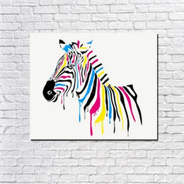 cheap abstract art paintings Australia - Canvas based nice designs large size cheap price Wall art zebra modern abstract animal decoration oil painting