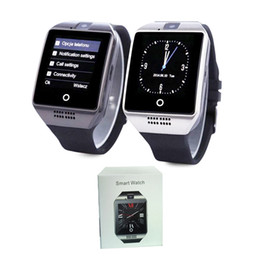 $enCountryForm.capitalKeyWord Australia - Q18 smart watches for android phones Bluetooth Smartwatch with Camera Original q18 Support Tf sim Card Micro Sim with Retail Package 10PC
