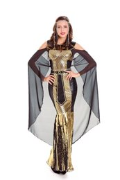 goddess costume women Canada - Sexy Lingerie Egypt Cleopatra Goddess Roman Egyptian Ladies Halloween Fancy Dress Costume 7186