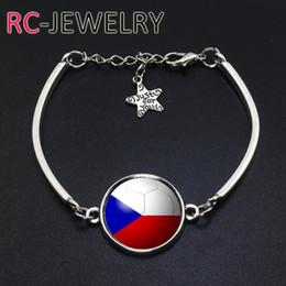 Cup Chain Settings Australia - 2017 Fashion Jewelry Czech Republic football team Flag bracelet Hand-made World Cup Alloy bracelet Bracelet Bangle One from the set
