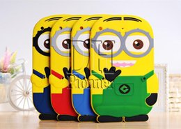 ipad mini 3d silicone case Canada - 3D Silicone Cute Minions Despicable Me2 Case Soft Cartoon Back Cover for Ipad mini 2 3 4 5 air DHL