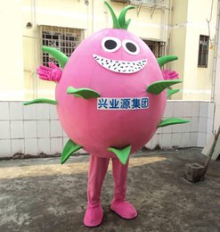 dragon lights Canada - SX0725 Light and easy to wear adult lovely pink Dragon fruit mascot costume for adult to wear