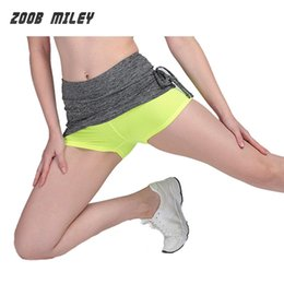 Chaussures De Gym Pas Cher-Wholesale-Professional Sportswear Femmes Marathon Running Shorts Elastic 2 couches Quick Dry Compression Tights Dance Gym Fitness Yoga Shorts