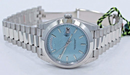 Ship Free Mens Wrist Watches Australia - Free shipping Luxury Mens Platinum DAY-DATE 228206 41mm Steel Blue Diagonal Automatic Mechanical Watch Brand New Sports Wrist Watches