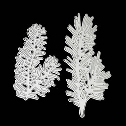$enCountryForm.capitalKeyWord Canada - 2pcs Pine Tree Metal Cutting Dies Scrapbooking Embossing Stencil Craft Cut Dies For DIY Card Album Photo Decoration