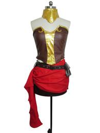 Wholesale rwby cosplay resale online - RWBY Beacon Academy Team Pyrrha Nikos Cosplay Costume Full Set S002