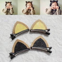 Wholesale New Designed Fashion Baby Hairpins Handmade Cute Wool Felt Cat Ear Hair Clips Girls Barrettes Children Hair Accessories