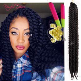 $enCountryForm.capitalKeyWord NZ - 100g 2x Havana mambo twist crochet braids hair extensions marley twist ombre color synthetic braiding hair wand body wave hair weaves