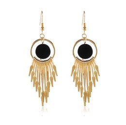 RetRo dates online shopping - Long tassel earrings South Korea joker contracted temperament retro fashion earrings products in Europe and the female stud earrings