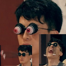 $enCountryForm.capitalKeyWord Australia - DHL Free Shipping Play Joke Trick Toys Droopy Eyes Glasses Halloween Costume Party Joke Horrible Funny Toys Spring Eye Ball Glasses Gag Gift