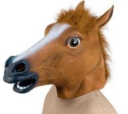 $enCountryForm.capitalKeyWord NZ - Creepy Horse Head Latex Mask Face Rubber Mask for Halloween Festival