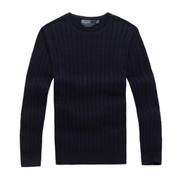Blue pullover sweater online shopping - 2017 Good quality Brand Men sweater pullover clothing Autumn Winter Season sweatershirts in red yellow orange black etc color