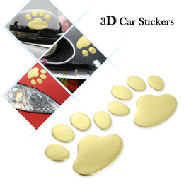 Footprints Stickers Canada - Auto PVC Cute Pet Animal Footprints Emblem Car Truck Decor 3D Personalized Sticker Decal Auto Vehicle Motorcycle Styling Paster