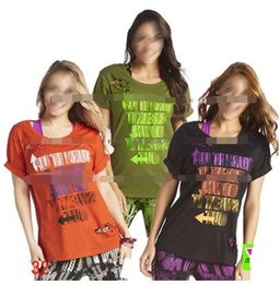 Ripped Camisetas Baratos-Nueva camiseta de mujer de llegada Dance It Out Ripped Long Tee dance tops ropa de yoga Womens Tops Tees