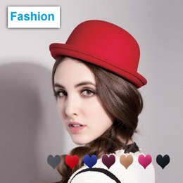 $enCountryForm.capitalKeyWord Canada - Vintage Girls top fashion Fascinator Bowknot Floppy Stingy Brim Hats Cute Cats Caps Blend Felt Trilby Bowler Hat Christmas gift