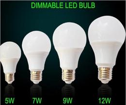 10pcs gradable blanc chaud / blanc pur LED ampoules ampoules 5W 7W 9W 12W 15W E27 douces lumières LED AC100V / AC230V en Solde
