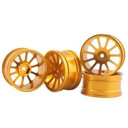 $enCountryForm.capitalKeyWord UK - RC Aluminum Wheel 4pc D:52mm W:26mm Fit HSP HPI 1:10 On-Road Drift Car Rim 125G