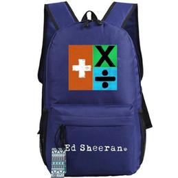 $enCountryForm.capitalKeyWord NZ - Pop star backpack Ed Sheeran schoolbag Singer fans daypack Outdoor school bag Nylon rucksack Hot sale day pack