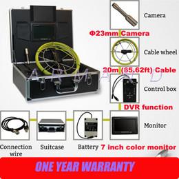 Cámara de inspección de tubería de video tubería 710D cámara de inspección de detector sanke para tarjeta de alcantarilla 8GB SD